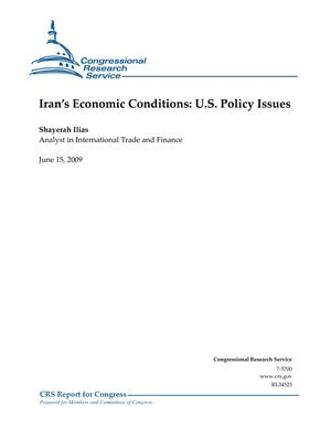 Iran's Economic Conditions: U.S. Policy Issues