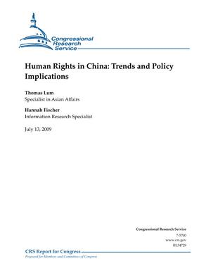Human Rights in China: Trends and Policy Implications