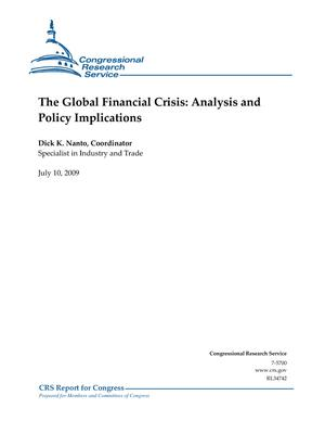 The Global Financial Crisis: Analysis and Policy Implications