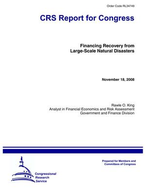 Financing Recovery from Large-Scale Natural Disasters