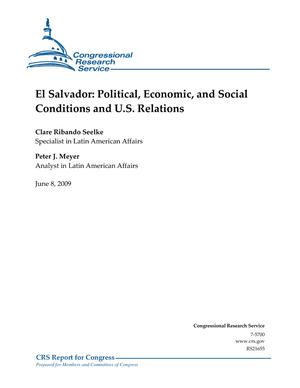 El Salvador: Political, Economic, and Social Conditions and U.S. Relations