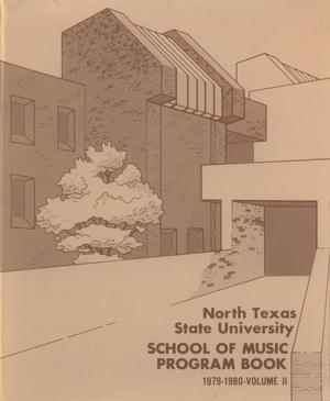 Primary view of object titled 'School of Music Program Book 1979-1980, Volume 2: Student Recital Series'.