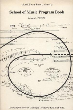 Primary view of object titled 'School of Music Program Book 1980-1981, Volume 1: Fall/Spring Performances'.