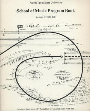 School of Music Program Book 1980-1981, Volume 2: Student Recital Series