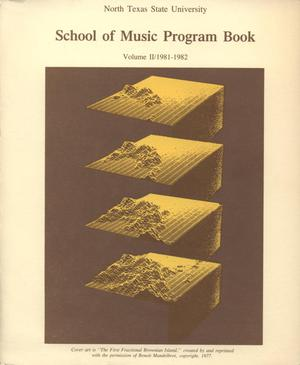 Primary view of object titled 'School of Music Program Book 1981-1982, Volume 2: Student Recital Series'.