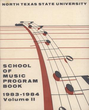 Primary view of object titled 'School of Music Program Book 1983-1984, Volume 2: Student Recital Series'.