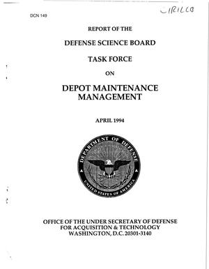 Primary view of object titled 'DoD Depot - Maintenance and COBRA Data'.