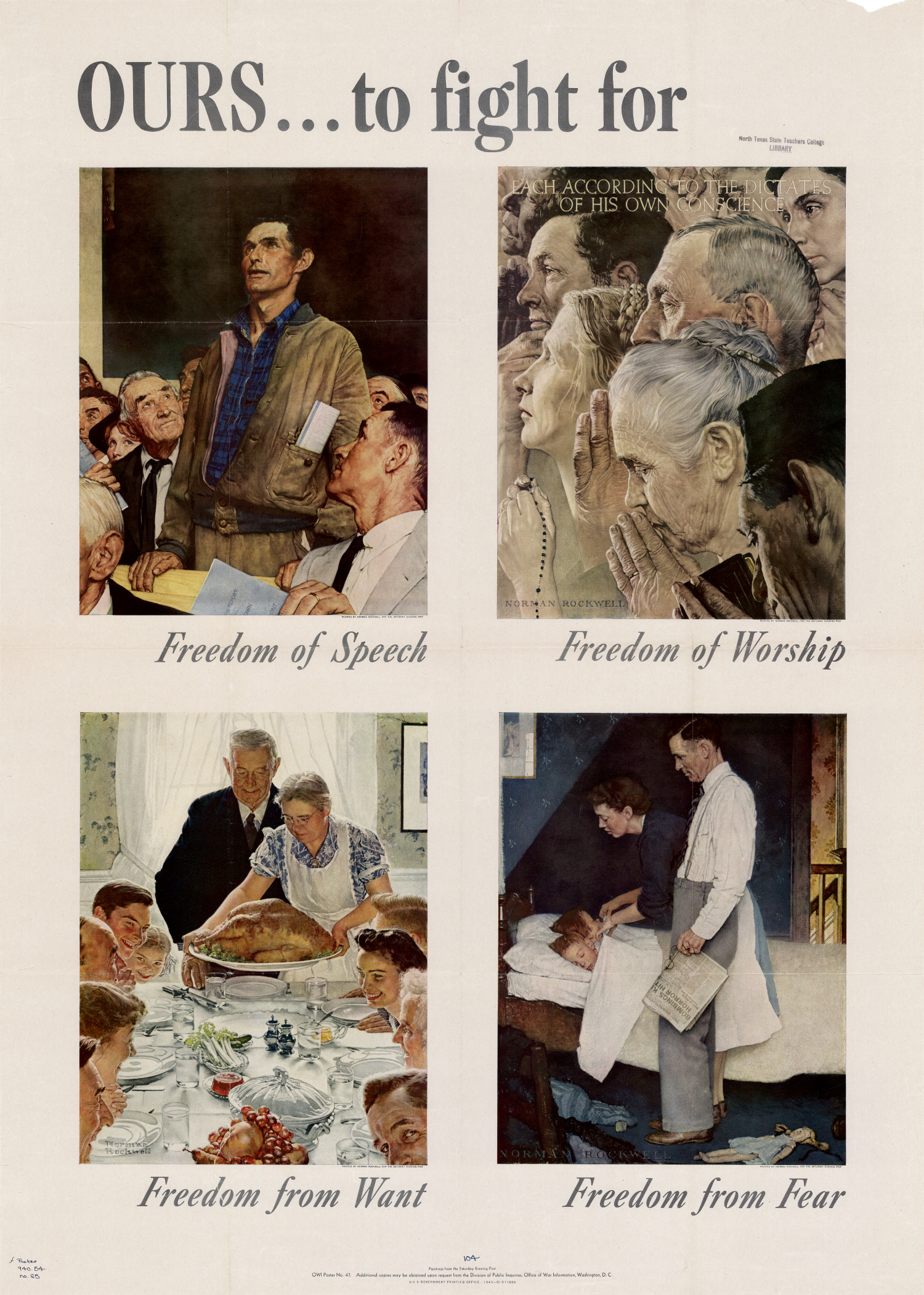 Norman Rockwell WWII WW2 Print THANKSGIVING 1943