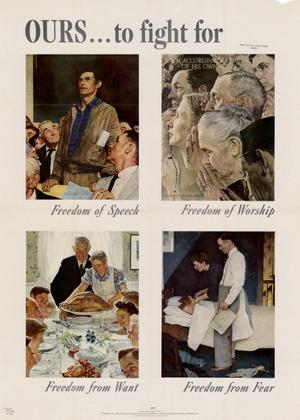 War Bonds poster showing all of Rockwell's