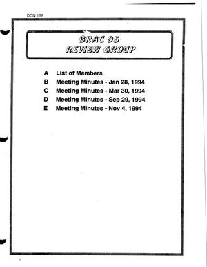 Primary view of object titled 'Review Group Meeting Minutes - Jan 28 - Nov 4, 1994'.