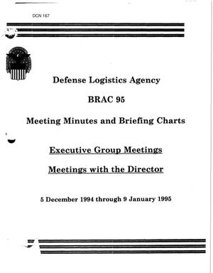 Primary view of object titled 'DLA Meeting Minutes - December 5 1994 - January 9, 1995'.