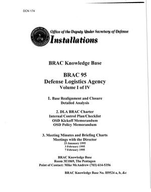 Primary view of object titled 'BRAC Knowledge Base DLA Vol. I of IV'.