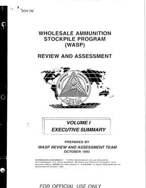 Primary view of object titled 'Wholesale Ammunition Stockpile Program Review and Assessment , October 1993, Volumes I - III; Responses to Congressional Inquiries'.