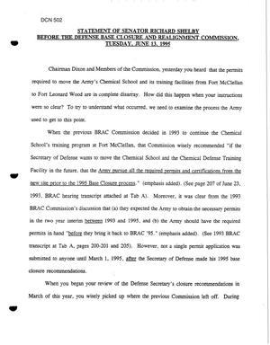 Primary view of object titled 'Congressional Testimony June 13, 1995 #3 (Part 1 of 2)'.