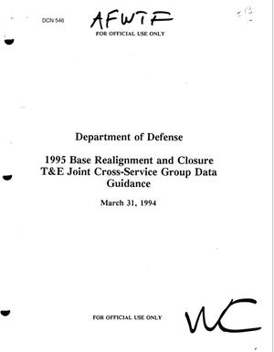 Primary view of object titled 'DoD Test and Evaluation, Joint Cross Service Data Guidance - Naval Warfare Assessment Division, Corona; Warfare Assessment Laboratory Data Guidance'.