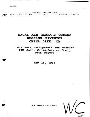 Primary view of object titled 'Naval Air Warfare Center, China Lake, CA - Data Call #13'.