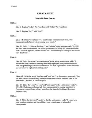 Primary view of object titled 'Reuse Hearings and Transcript, March 16, 1995'.