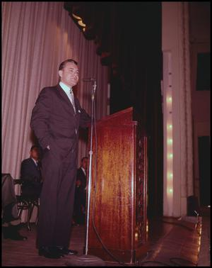 Primary view of object titled '[Man at Podium]'.