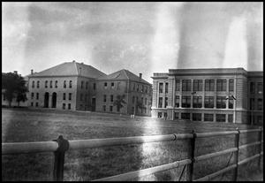 Primary view of object titled '[Main Building and Science Building]'.