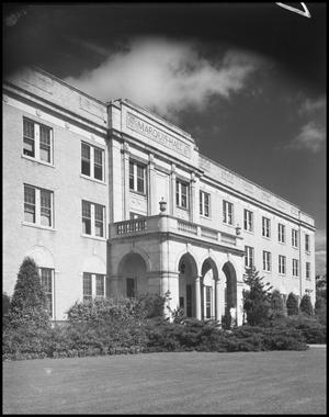 Primary view of object titled '[Marquis Hall, Exterior]'.