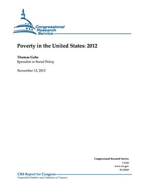 Poverty in the United States: 2012