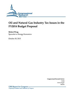 Oil and Natural Gas Industry Tax Issues in the FY2014 Budget Proposal