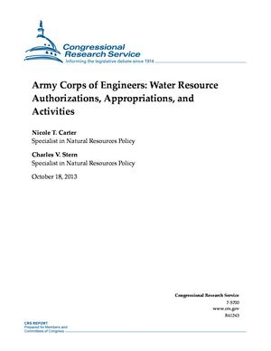 Army Corps of Engineers: Water Resource Authorizations, Appropriations, and Activities