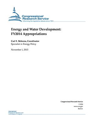 Energy and Water Development: FY2014 Appropriations