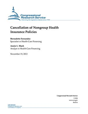 Cancellation of Nongroup Health Insurance Policies