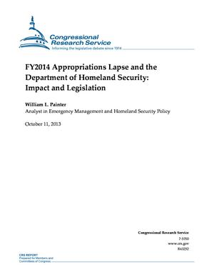 FY2014 Appropriations Lapse and the Department of Homeland Security: Impact and Legislation