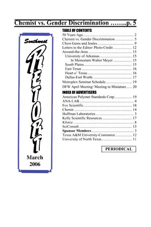 Primary view of object titled 'Southwest Retort, Volume 58, Number 7, March 2006'.