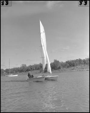 Primary view of object titled '[Dr. Louise Self Sailing]'.