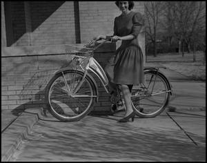 Primary view of object titled '[Marie Rather With a Bicycle]'.