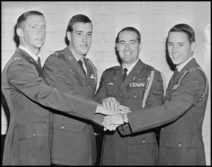 Primary view of object titled '[Four ROTC Members]'.