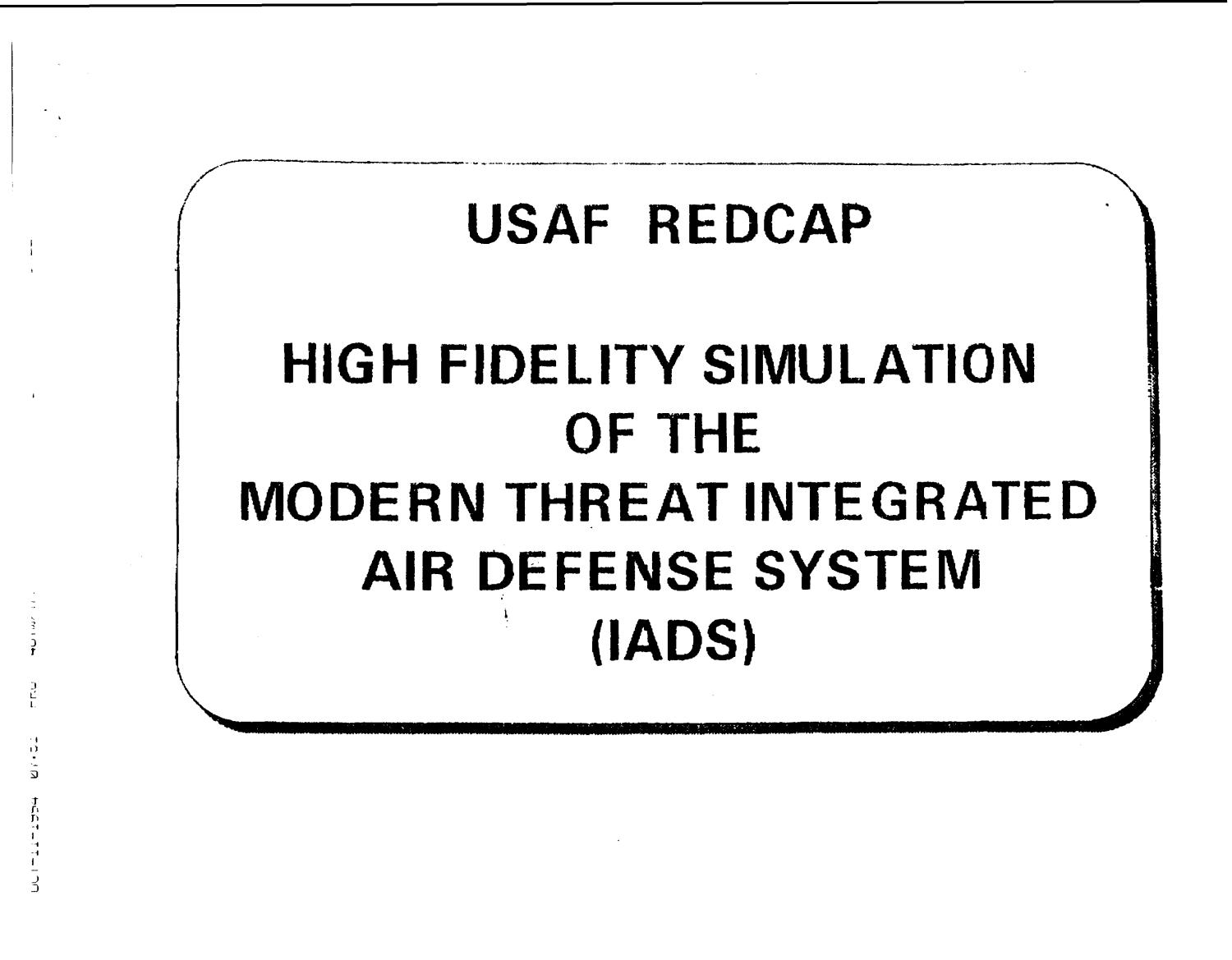 REDCAP Briefing; ALC, OK; NAS Atlanta, GA; SPAWAR, Capitol Region, June 1995                                                                                                      [Sequence #]: 3 of 178