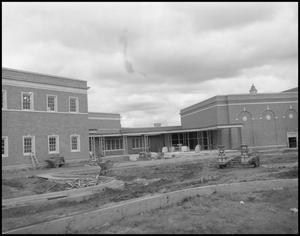 Primary view of object titled '[New Construction of the Music Building]'.