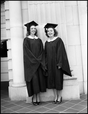 Primary view of object titled '[Photograph of Two Graduating Seniors]'.