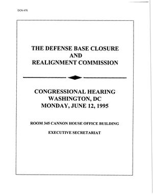 Primary view of object titled 'Congressional Testimony June 12, 1995 #1'.