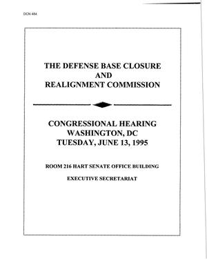 Primary view of object titled 'Congressional Testimony June 13, 1995 #1'.