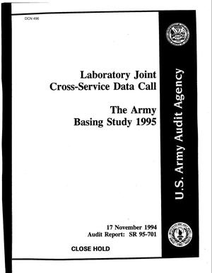 Primary view of object titled 'Lab Activities (November 17, 1994) - Test and Evaluation (December 13, 1994) - Data Call'.