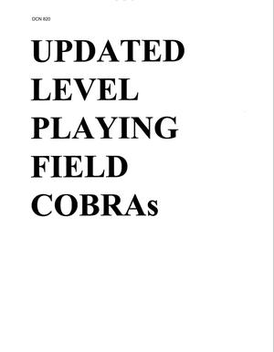 Primary view of object titled 'COBRA Data'.