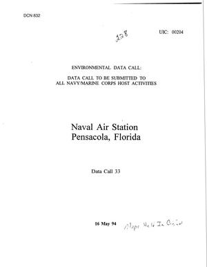 Primary view of object titled 'Naval Air Station, Pensacola, FL - 1995 Data Calls 2 of 3'.