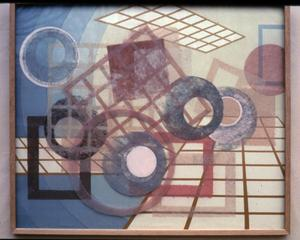Primary view of object titled '[circles, rectanges and gridded window shapes create depth]'.
