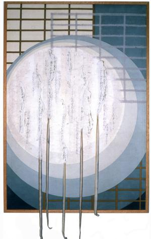 [full moon in front of grids]