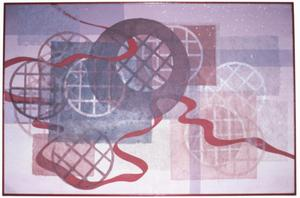 Primary view of object titled '[ribbon through the grid circles]'.