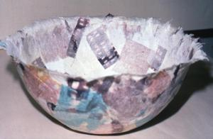 Primary view of object titled '[handmade paper bowl]'.