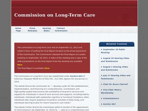 Primary view of object titled 'Commission on Long-Term Care'.