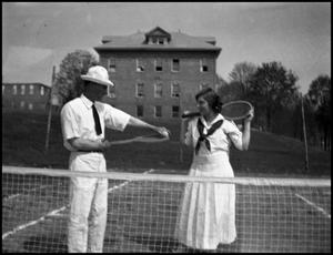 Primary view of object titled '[Photograph of Tennis Match]'.