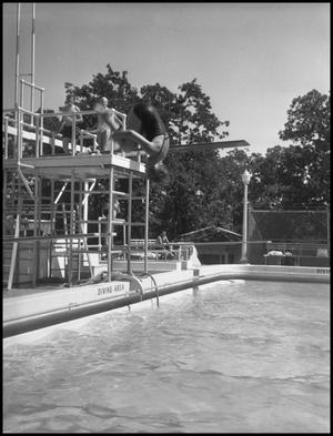 Primary view of object titled '[Students at Swimming Pool]'.