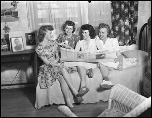 Primary view of object titled '[Women in Dorm Room]'.